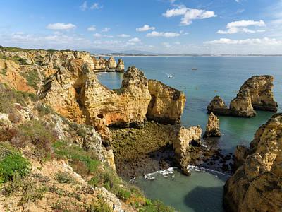 Algarve Wall Art - Photograph - The Cliffs And Sea Stacks Of Ponta Da by Martin Zwick