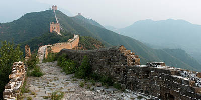 Break Of Day Photograph - The Great Wall Of China by Keith Levit / Design Pics