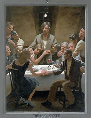 Painting - 5. The Last Supper / From The Passion Of Christ - A Gay Vision by Douglas Blanchard