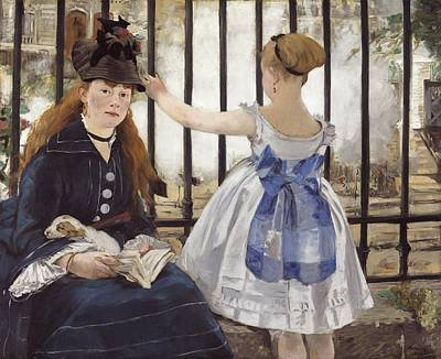 Gare Painting - The Railway by Edouard Manet