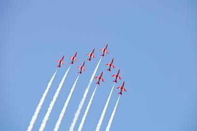 Jet Photograph - The Red Arrows by Ashley Cooper