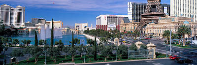 Water Fountain Photograph - The Strip, Las Vegas, Nevada, Usa by Panoramic Images