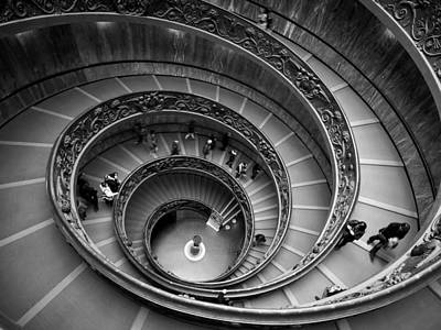 Jouko Lehto Royalty-Free and Rights-Managed Images - The Vatican Stairs by Jouko Lehto
