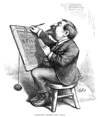 Cartoonist Painting - Thomas Nast (1840-1902) by Granger