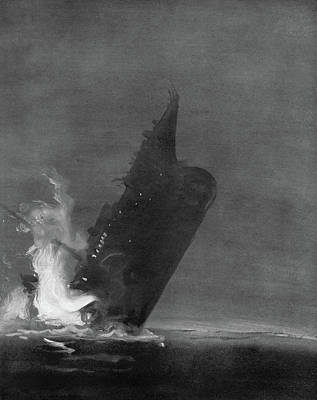Titanic Sinking, 1912 Art Print by Granger