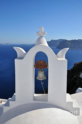 Photograph - Traditional Belfry In Oia Town by George Atsametakis