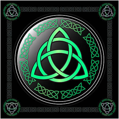 Triquetra Art Print by Ireland Calling