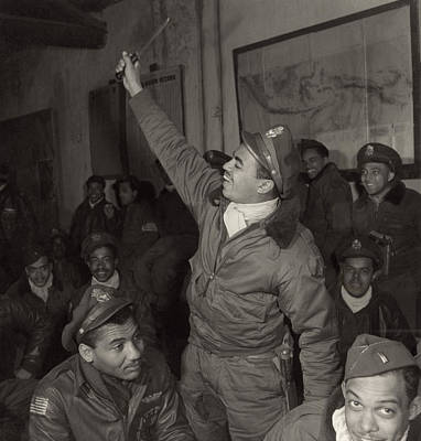 Photograph - Tuskegee Airmen, 1945 by Granger