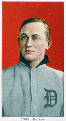 Baseball Card Painting - Ty Cobb (1886-1961) by Granger