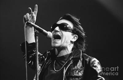 Bono Photograph - U2 - Bono by Concert Photos