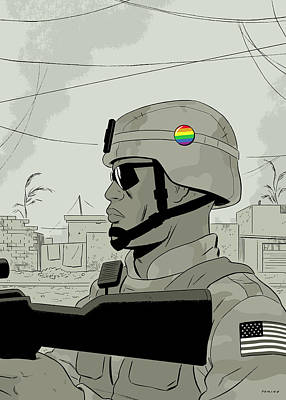 Army Digital Art - New Yorker August 4th, 2008 by Adrian Tomine