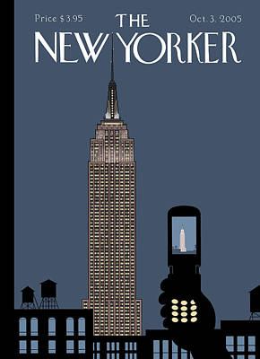 Empire State Building Painting - Hold Still by Chris Ware