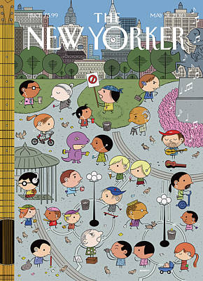 Music Ipod Painting - New Yorker May 31st, 2010 by Ivan Brunetti