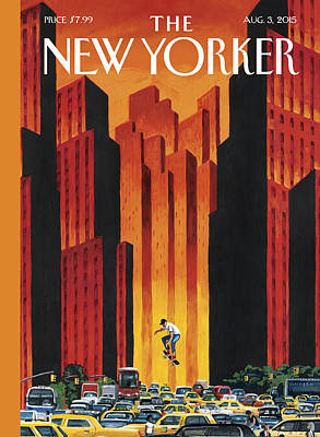 New Yorker August 3rd, 2015 Art Print by Mark Ulriksen