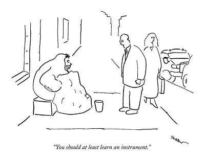You Should At Least Learn An Instrument Art Print by Michael Shaw