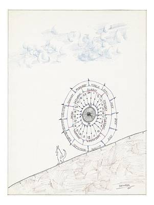 Sketchbook By Saul Steinberg Art Print