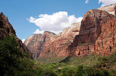Usa Utah, Zion National Park Art Print