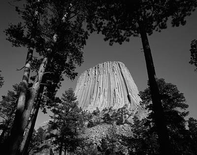 Devils Tower Photograph - Usa, Wyoming, Hulett, Devil's Tower by Walter Bibikow