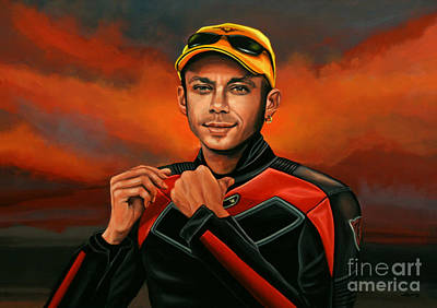 Athlete Painting - Valentino Rossi  by Paul Meijering
