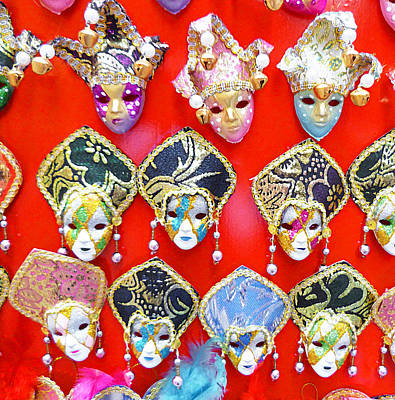 Carnival Wall Art - Photograph - Venetian Masks  by Irina Sztukowski