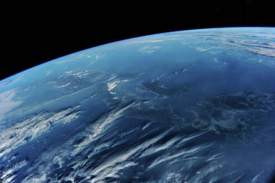 View Of Planet Earth From Space Showing Art Print