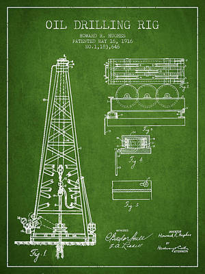 Vintage Oil Drilling Rig Patent From 1916 Art Print by Aged Pixel