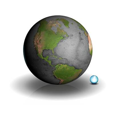Volume Of Earth's Water Art Print