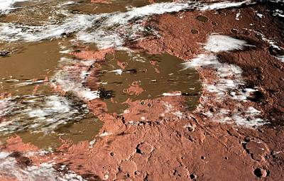Terraform Photograph - Water On Mars by Detlev Van Ravenswaay