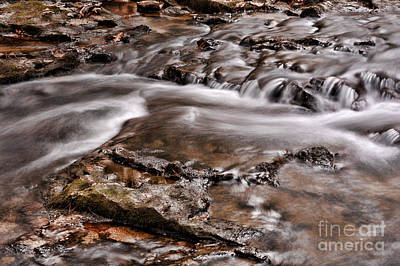 New England Fall Photograph - Waterfall  by HD Connelly