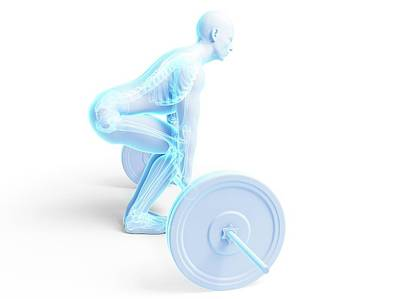 Weight Training Posture Art Print by Sebastian Kaulitzki