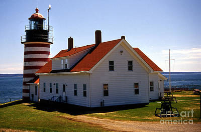West Quoddy Lighthouse Art Print by Skip Willits