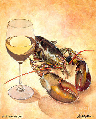 White Wine And Tails... Art Print