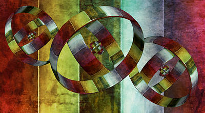 Digital Art - 5 Wind Rings by Angelina Vick