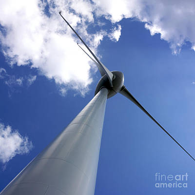 Wind Turbine Art Print by Bernard Jaubert