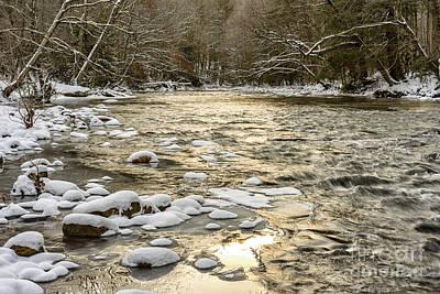 Winter Sunrise Cranberry River Art Print