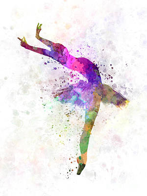 Shadow Dancing Painting - Woman Ballerina Ballet Dancer Dancing  by Pablo Romero