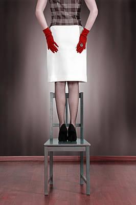 Woman On Chair Art Print by Joana Kruse