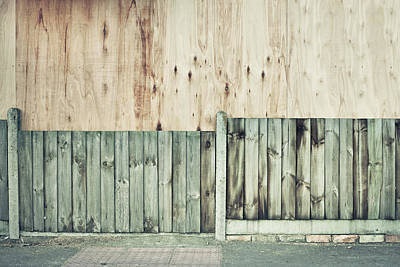 Boarded Up Photograph - Wooden Background by Tom Gowanlock