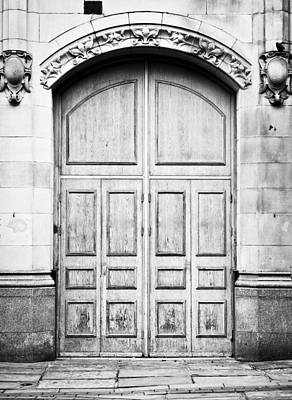 Medieval Temple Photograph - Wooden Door by Tom Gowanlock