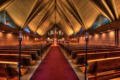 Woodlake Lutheran Church Art Print