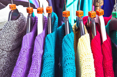 Rack Photograph - Wool Jumpers by Tom Gowanlock
