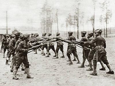 World War I Training Art Print by Granger