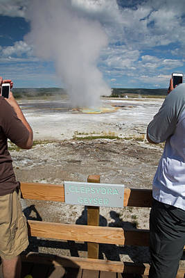 Electronic Photograph - Yellowstone National Park by Jim West