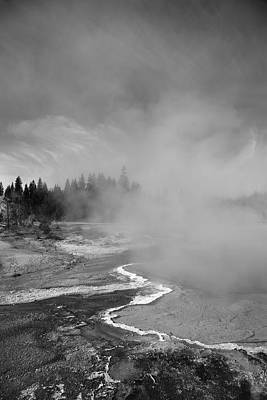 Photograph - Yellowstone Park Geyser by Frank Romeo