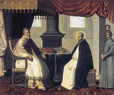 Confession Photograph - Zurbaran, Francisco De 1598-1664. Saint by Everett