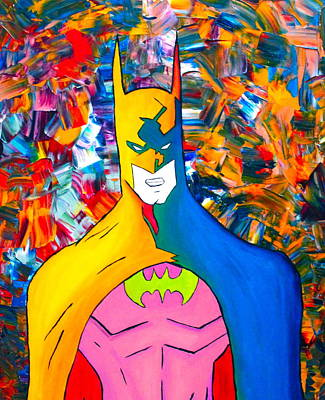 Cop Painting - 50/50 Batman by Cevin Cox