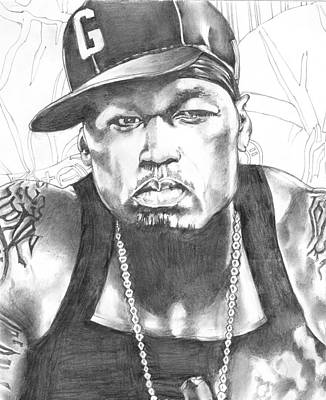Endorsement Drawing - 50 Cent by Hiten Mistry