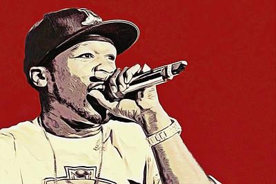 50 Cent Pop Art Original by Gustav Boye