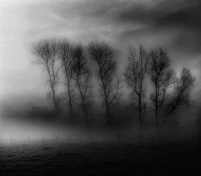 Rural Photograph - 50 Shades Of Fog by Yvette Depaepe