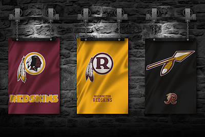Flag Photograph - Washington Redskins by Joe Hamilton